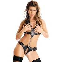 ledapol 473 imbracatura body in pelle donna