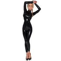 ledapol 4776 catsuit in latex - stretch overall in gomma