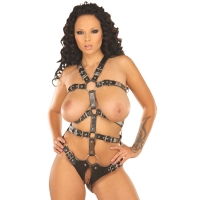 ledapol 5070 imbracatura body in pelle donna
