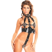 ledapol 5164 imbracatura body in pelle donna