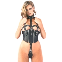 ledapol 5280 imbracatura body in pelle donna
