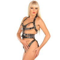 ledapol 5477 imbracatura body in pelle donna